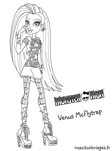 venus from monster high coloring pages