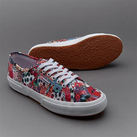 womens shoes superga x liberty 2750 cotu bloom shoes