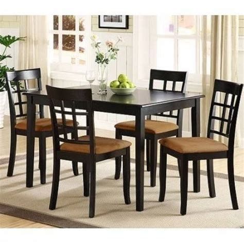 lexington 5 piece dining table set with window back chairs