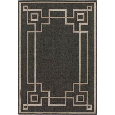black key rug artistic weavers blanche black 8 ft 9 in x 12 ft 9 in indoor outdoor area rug s00151001735