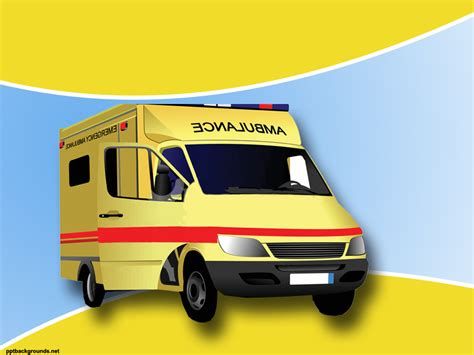 free ambulance backgrounds for powerpoint health and