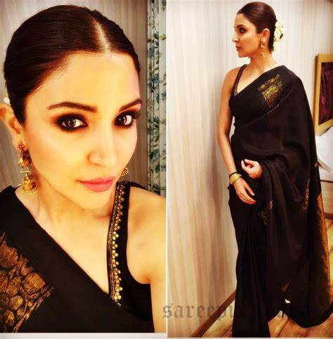 Sharma Designs The Of A - anushka sharma in black traditional saree
