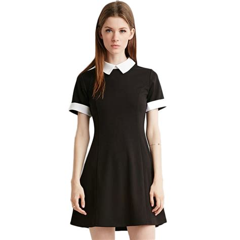 New Style Slim Dress summer mini dress new fashion preppy style slim sleeve patchwork knitting cotton
