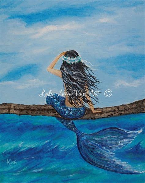 mermaid painting mermaid painting sale original canvas mermaids turquoise