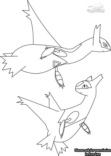 pokemon coloring pages latias latios coloring pages coloring pages