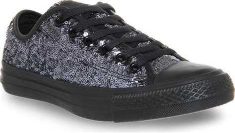 black sequin converse sneakers converse all low top sequin trainers for in