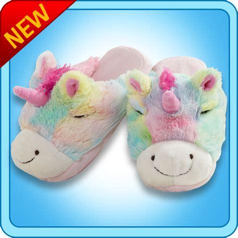 Pillow Pet Rainbow Unicorn - pillow pets authentic rainbow unicorn slippers gift