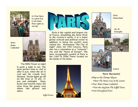 travel brochure templates for students brochure templates of search