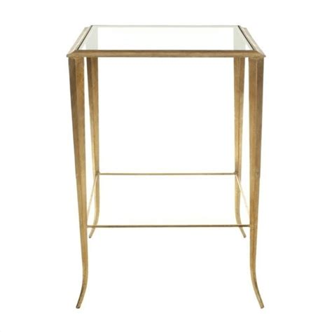 Gold Accent Table Safavieh Glass Accent Table In Gold Fox2508a