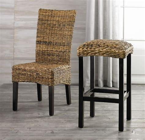seagrass banana leaf or rattan bar stools with backs furniture black seagrass bar stools and wood seagrass chairs