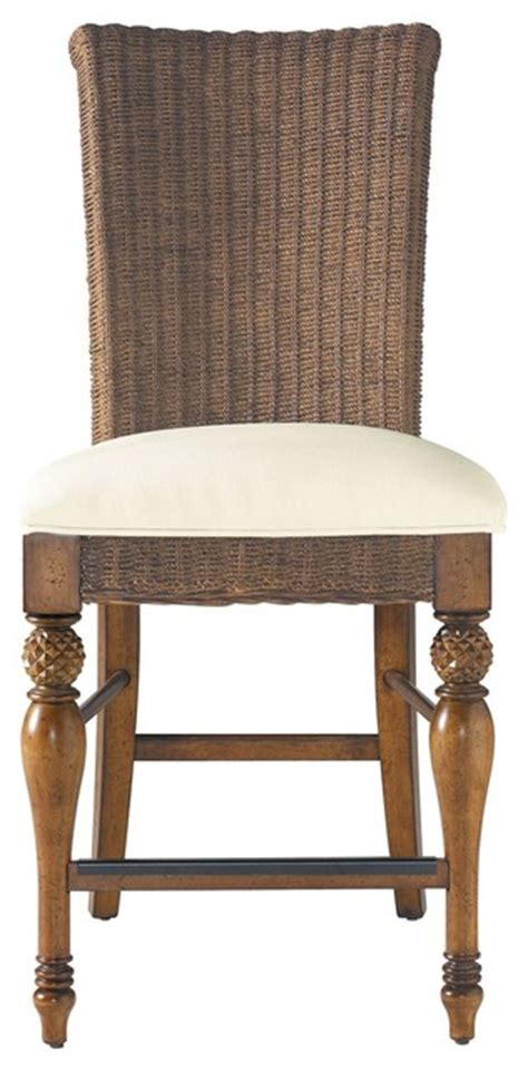 Coastal Counter Height Stools by Coastal Living Cottage Woven Counter Height Stool With
