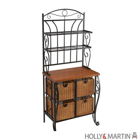 Metal Bakers Rack by Lillian Iron And Rattan Baker S Rack Martin