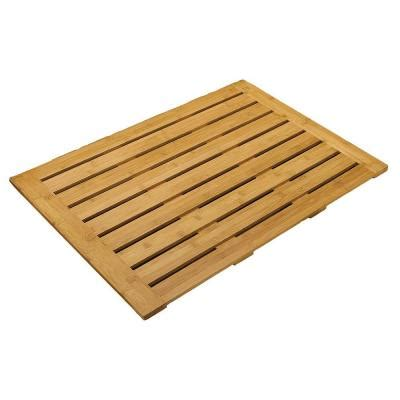 seville classics 22 in x 28 in bamboo bathroom floor mat