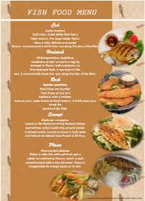 Seafood Menu Templates by Fish Seafood Menu Template Format Template