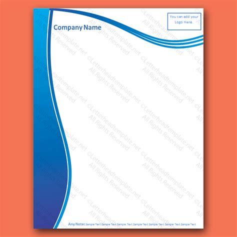 plantilla business letterhead with blue waves wave letterhead template