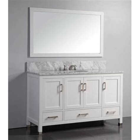 60 Inch Framed Vanity Mirror Buy Metro Shop Marble Top 60 Inch Sink Rustic Style