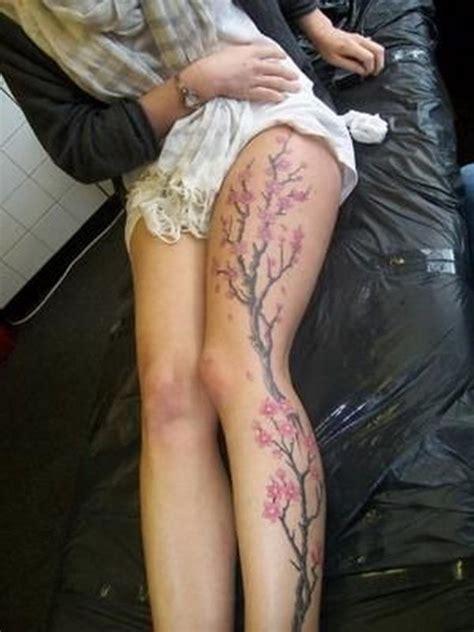 Cherry Blossom Tree Tattoo On Whole Leg Tattoos Book Cherry Blossom Leg 15 Cherry Blossom Designs