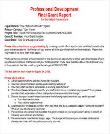 grant reporting template 28 images best photos of
