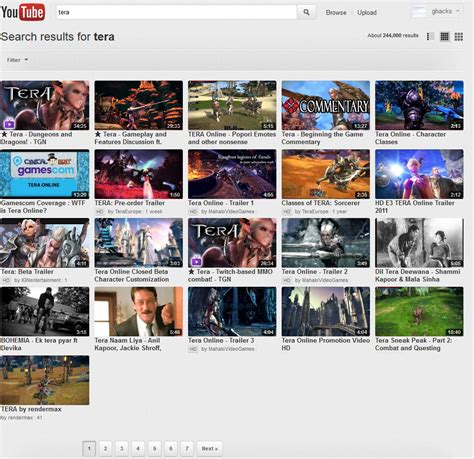 old youtube layout firefox addon gridtube modifies youtube s search layout ghacks tech news
