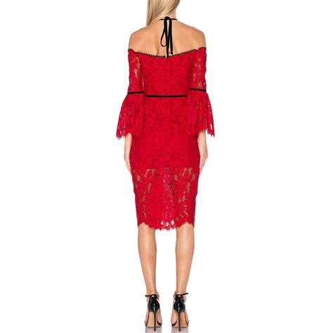 alexis odette velvet necktie off the shoulder lace dress alexis odette velvet necktie off the shoulder lace dress