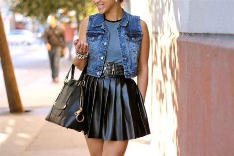 diy faux leather pleated skirt keepitbetweenthepleats