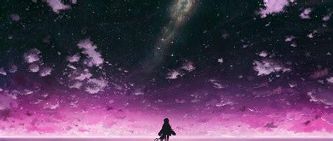 purple anime wallpaper anime purple sky wallpaper and hintergrund 2162x920 id