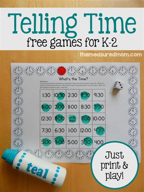 printable games for time print play telling time game k 2 this reading mama