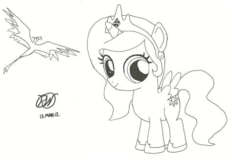 celestia as a filly coloring pages coloring pages