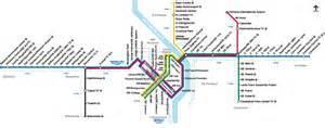 trimet rail system map max wes and streetcar