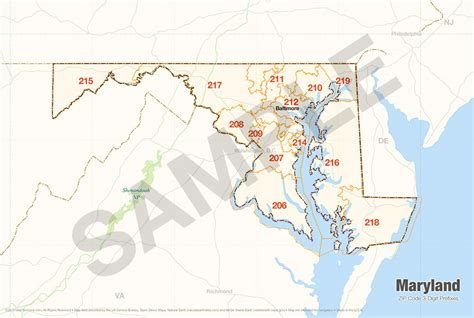 Us Search Maryland Maryland Zip Code Map My
