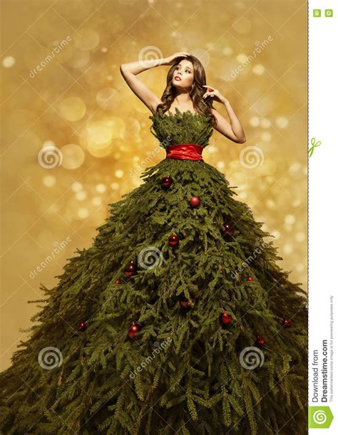 new year model fashion model tree dress gown new