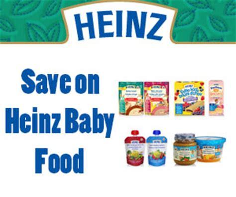 heinz baby food printable coupons save on heinz baby food