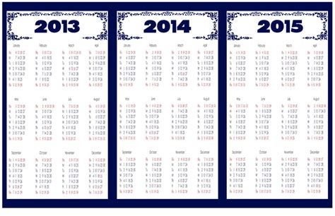 printable 3 year calendar 2013 to 2015 5 best images of calendar 2013 2014 2015 printable one