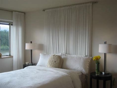 ideas for beds without headboards best 25 curtain behind headboard ideas only on pinterest