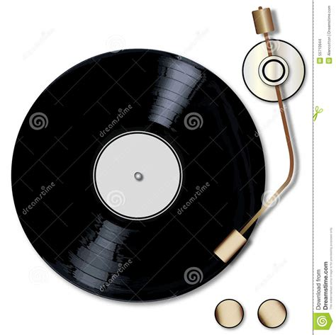 decks records record deck stock illustration illustration of