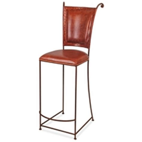 Wrought Iron Bar Stools With Leather Seats by Rustic Wrought Iron Dining Furniture Bar Stools