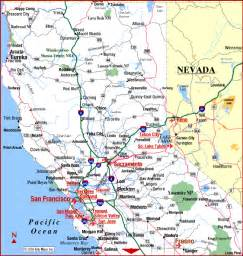 california nevada map with cities map of northern california area pictures california map