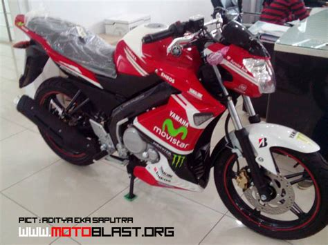 Half Fairing Movistar inikah yamaha new vixion special movistar motogp edition kena jepret di dealer
