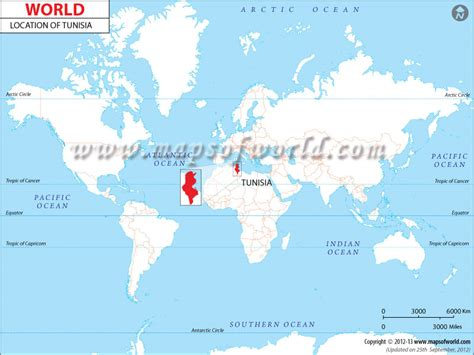 where is tunisia in the world map where is tunisia location map of tunisia