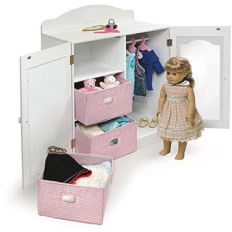 badger basket doll armoire american girl doll wardrobe american girl doll armoire