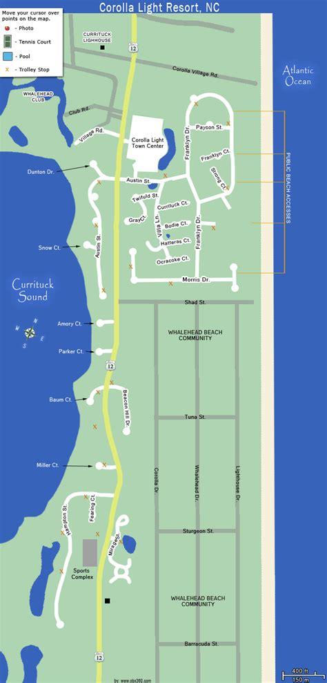 corolla light resort map corolla light resort