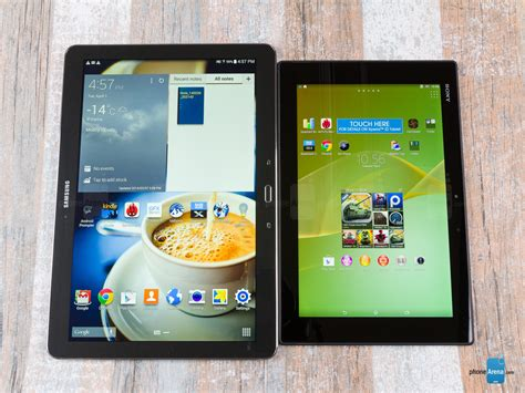 Tablet Sony Z2 Di Indonesia sony xperia z2 tablet vs samsung galaxy notepro 12 2
