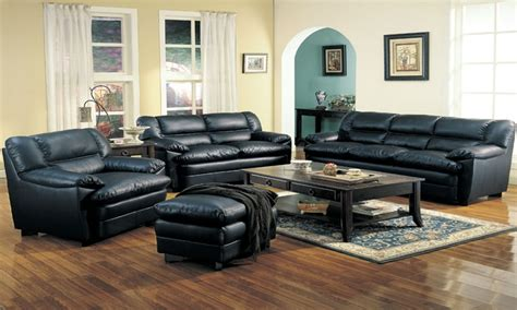 leather livingroom set used leather living room set