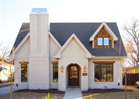 white house custom color instagram wtp ldg white brick cottage coastal dormer