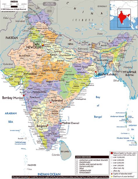 map in maps of india detailed map of india in tourist