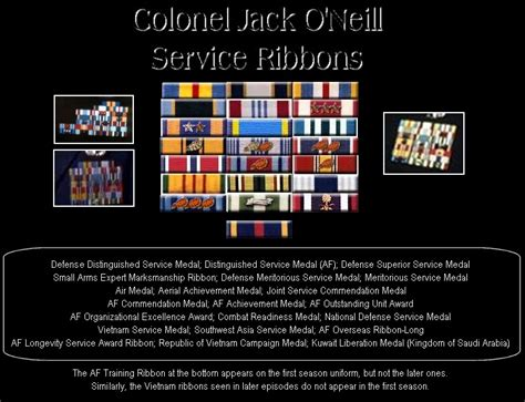 stargate tv series  military awards  jack