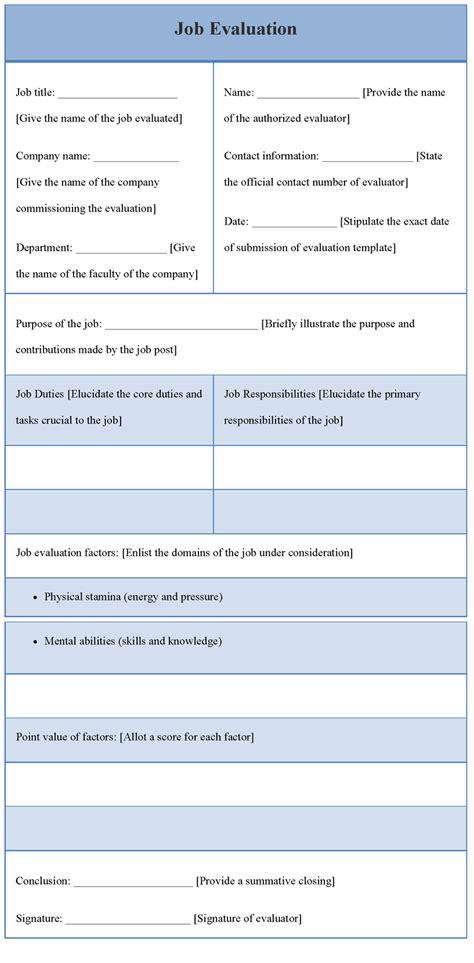evaluation template evaluation template for template of evaluation