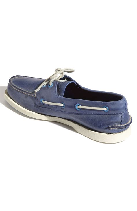 boat shoes blue sperry top sider authentic original 2eye burnished boat