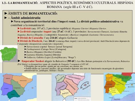 B1 Imperi tema 1 b hist 210 ria espanya hispania romana