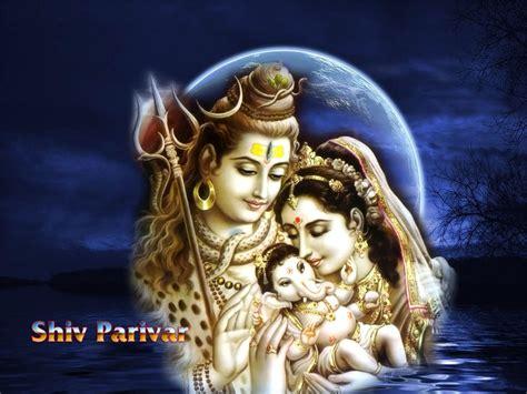 Wallpaper Of Shiv Parvati Ganesh